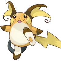 <b>13th December 2015 - Green-Version Raichu</b><br>After drawing Green-version Pikachu, Raichu was only a natural continuation! Its Green-version sprite features giant ears and a mouth that looks like a blep, which I faithfully recreated. I find it oddly adorable.