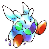 <b>24th December 2015 - Oldie Goomy</b><br>I'm sure Goomy wouldn't need those shoes to be in first-gen-style, but I was slightly inspired by Kirby for this one...! I think I did especially well on the shading this time.