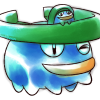<b>24th December 2015 - Oldie Lotad</b><br>Two Lotad for the price of one! I'm personally quite impressed with those vivid blues - great work, me-of-the-past!
