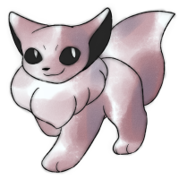 <b>31st October 2016 - Oldie old Eevee</b><br>This is an interesting one! A friend asked me to re-interpret Eevee's R/B sprite in the oldie style, and I ended up with this. I copied the sprite as closely as I could, and I have to admit, it <em>really</em> looks like a fennec fox in this piece. There's something about those ears...!
