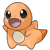 <b>23rd February 2017 - Baby Charmander</b><br>I was joking with some friends about how Pokémon will start having <em>more</em> additional evolutions, and drew this baby Charmander as a part of that. It's non-serious though, of course. I implemented things like the spike that used to be on gen one Charmander's backsprite, and turned the flame into just a particularly hot-to-touch marking on its tail.