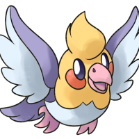 "<b>17th March 2017 - Tweetune</b><br>This one is actually fanart for my good friend <a href=""http://inikaxeathis.tumblr.com/tagged/Chushin-Pokedex"">Matt</a>! I really wanted to draw Sugimori-style art of her regional bird fakemon, and so I did. The wings were very fun to draw, and I enjoyed the exercise of drawing someone else's fakemon in this style. Come to think of it, it would be lovely to do more of this...!"