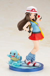 [Image: Leaf's ARTFX figurine, featuring Squirtle as a companion.]