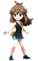 [Image: Pokemon Trainer Green from Let's Go, sporting Leaf's signature pose.]